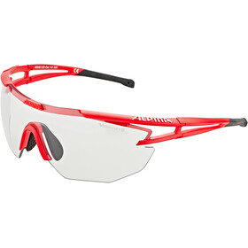Alpina Eye-5 Shield VL+ Aurinkolasit, red matt-black/black